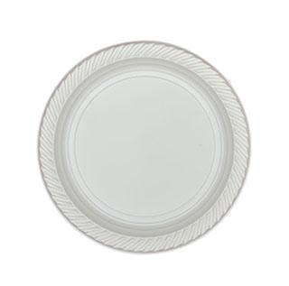 أطباق فاخرة 17 سم (بيضاء)