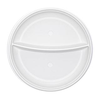 أطباق ذات قسمين 21 سم (البولي بروبيلين - بيضاء)