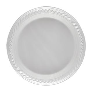 أطباق فاخرة 22 سم (بيضاء)