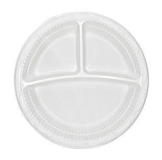 أطباق عميقة ذات 3 أقسام 26 سم (البولي بروبيلين - بيضاء)